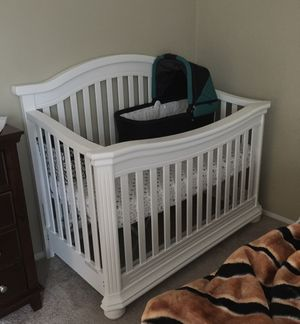 Baby Crib + Rail Guard + Memory Foam Mattress for Sale in Fulton, MD