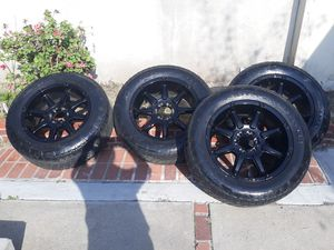 20 INCH FUEL OFF ROAD WHEELS RIMS / NITTO GRAPPER TERRAIN SILVERADO GMC SIERRA THAOE YUKON RAM TUNDRA F150 for Sale in Los Angeles, CA