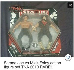 Samoa Joe vs Mick Foley Action Figure set for Sale in Lowell, MA