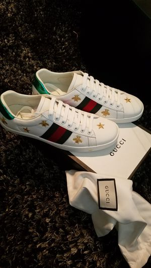 13064559540 New Gucci Dragon Ace Embroidered Leather Sneaker size12 with box and ...