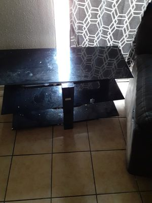 45 inch glass tv stand for Sale in San Antonio, TX
