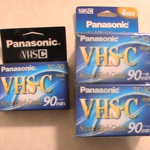 5 Panasonic VHS-C TC-30 Super High Grade 90 Minute Camcorder Tapes - Brand New Unopened for Sale in Portland, OR