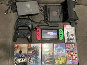 Nintendo switch with games and accessories for Sale in Provo, UT