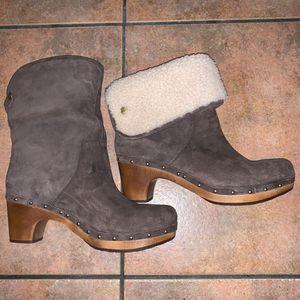UGG LYNNEA SHEARLING Leather CLOG BOOT Size 11 for Sale for sale  Stuart, FL