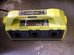 RYOBI 18-Volt ONE+ 6-Port Dual Chemistry IntelliPort SUPERCHARGER with USB Port for Sale in Fresno, CA