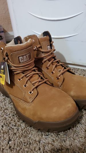 Caterpillar woman work boots for Sale in Fontana, CA