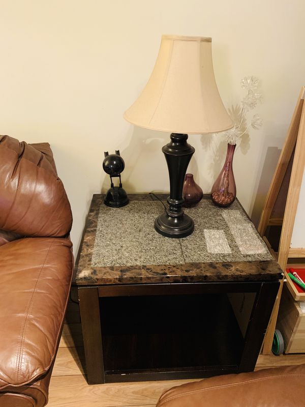 Sofa, tv stand, tables
