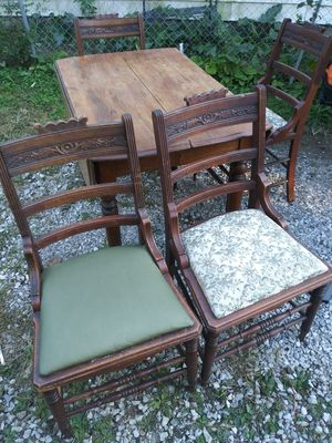 Antique Dining Table & 4 Chairs for Sale in Indianapolis, IN