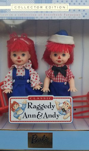 Raggedy Ann & Andy classic Tommy & Kelly Barbie Collector Edition for Sale in Los Angeles, CA