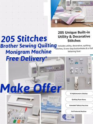 CS6000i 60 Stitches vs 205-stitches BROTHER Sewing Quilting Machine Monogram SQ9285 FREEBIES! MAKE OFFER for Sale in Los Angeles, CA