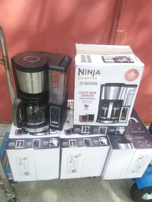 NEW NINJA COFFEE CUSTOM BREW STRENGHTS,12 CUPS,FILTER INCLUDING WASHABLE,FOR ANY QUESTION TEXT ME PLEASE for Sale in Los Angeles, CA