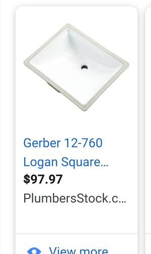 garber undermount lavatories only $45each for Sale in Houston, TX
