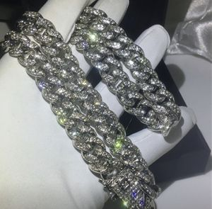 """Men's Miami Cuban Link Chain Diamond Real Stainless Steel 18"""" Choker - 30"""" ICED for Sale in Herndon, VA"""