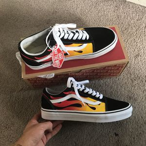 Vans flaming and checkered for Sale in Imperial, CA