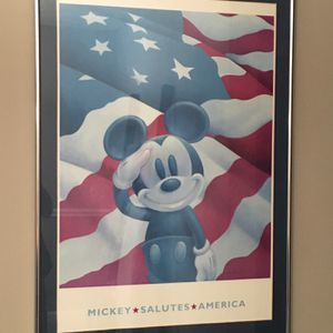 Mickey Mouse Salutes America Framed Disney Poster for Sale in Smyrna, GA