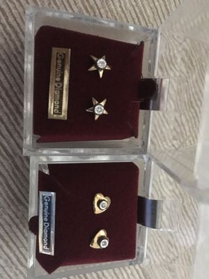 Brand new diamond earrings for Sale in Sterling, VA