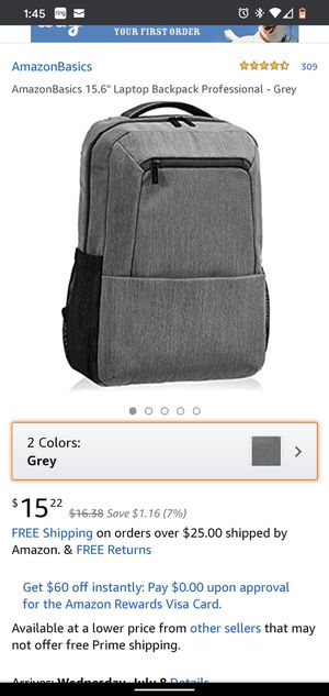 "New 15.6"" Laptop Backpack Professional - Grey for Sale in Fresno, CA"