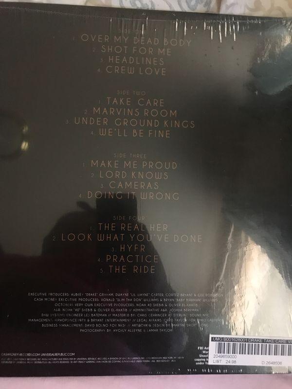 "Drake ""Take Care"" vinyl (Still in package)"