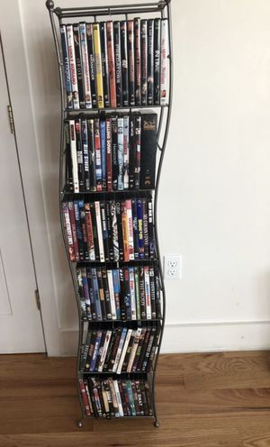 88 📀 DVD movies with a rack for Sale in Boston, MA