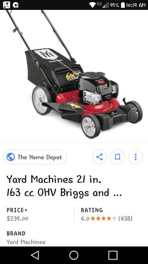 Used Lawn mower works great with gas!! for Sale in Chippewa Falls, WI