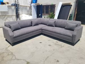 NEW 9X9FT CHARCOAL MICROFIBER SECTIONAL COUCHES for Sale in Henderson, NV