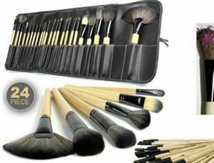 New 24 makeup brushes with leather brushes carrying case and holder for Sale in Clifton Heights, PA