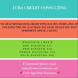 CREDIT REPAIR & PAY STUB MAKER for Sale in Washington, DC