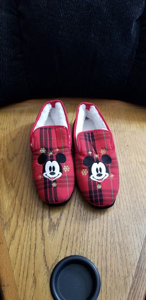 NEW Mickey Mouse Holiday Soft Slippers Shoes. Women's size 8 for Sale in South Gate, CA