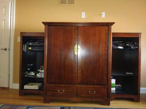 3 Piece Armoire Cherry Wood Set for Sale in Southfield, MI