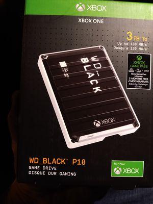 X-Box One 3TB WD Black P10 Gaming Storage for Sale in Tacoma, WA