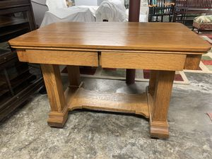 Mission Style Oak Library Table for Sale in Wheeling, WV