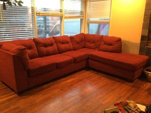 Lovely Red Sectional Couch for Sale in Portland, OR