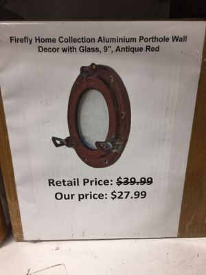 Firefly home collection aluminum porthole for Sale in San Leandro, CA