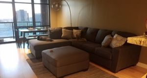 Grey couch good size does not come with ottoman for Sale in Grand Prairie, TX