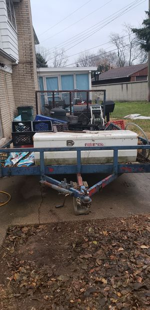 Landscaping trailer, Trade for 26 inch rims for 2001 gmc Yukon XL only, no cash only trade. for Sale in Hazel Park, MI