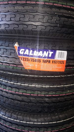St225 75 r15 10ply trailer 4 new tires $220 for Sale in Los Angeles, CA