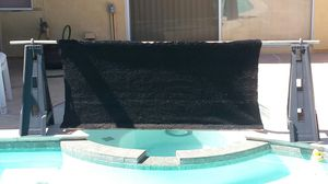 Handmade Outdoor Curtain Rug Wood Cover Spa Hot Tub Air Conditioner More Read Below for Sale in Upland, CA