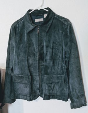 Liz Claiborne Vintage Womens Suede Jacket Size XL Blue Green for Sale in Hesperia, CA