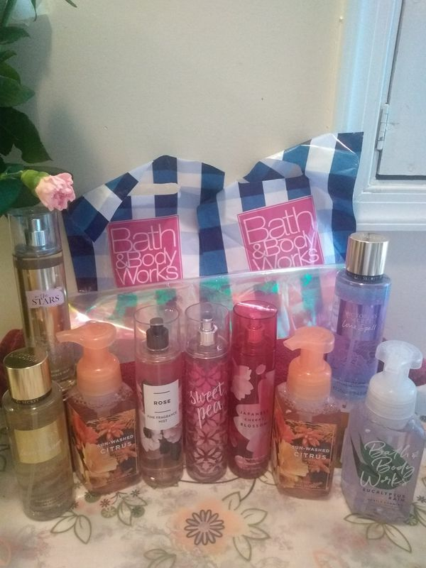 I sell body lotions from the store Bath and body works and perfumes from Jafra
