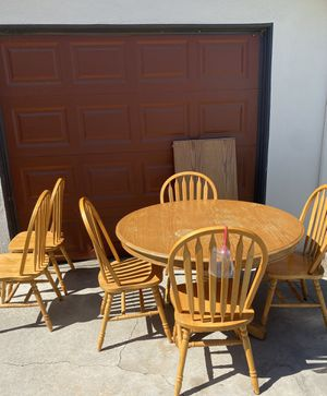 Kitchen table with 6 chairs and leaf for Sale in Riverside, CA