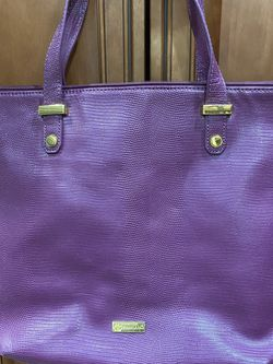 * Beautiful Leather Plum Mangano Tote! * New! * Never Used! * Must See! * Nice Looking! for Sale in Massapequa,  NY
