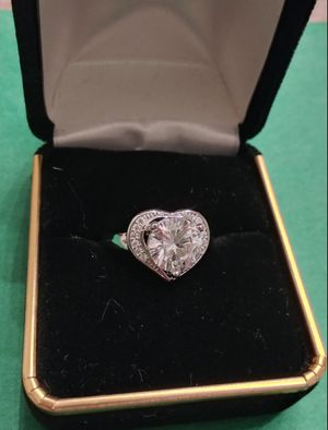 $10 brand new size 7 or 8 silver plated CZ ring for Sale in Manchester, MO