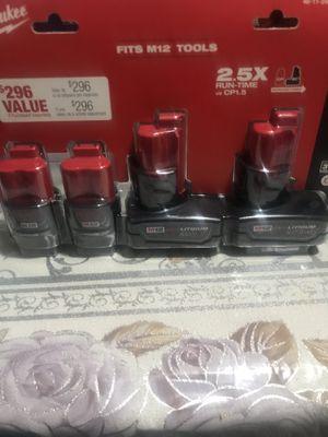 Set de 4 baterías 🔋 12volt Milwaukee nuevas for Sale in Cicero, IL
