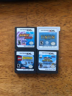 All 4 Games Nintendo DS and Nintendo 3D for Sale in Coral Gables, FL