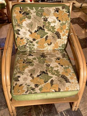 Vintage rattan bamboo chair Fisks Reed CO. for Sale in Hoffman Estates, IL