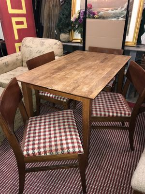 Table with Four Mid Century Modern Style Chairs for Sale in Wichita, KS