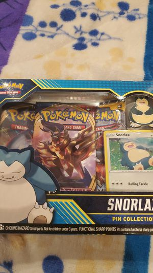 Snorlax pin collection pokemon trading card for Sale in Santa Ana, CA