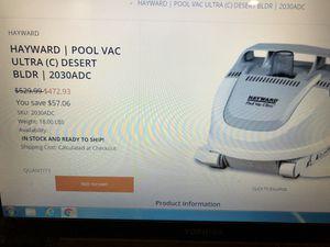 Hayward ultra pool vacuum for Sale in Las Vegas, NV