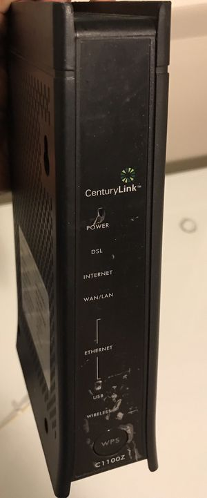 Zyxel modem plus router , good for centurylink for Sale in Bellevue, WA