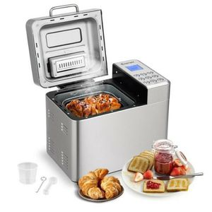 2 LB Stainless Steel Automatic Bread Maker Programmable Bread Machine for Sale in Palmdale, CA